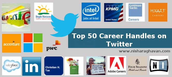 Top 50 Career Handles on Twitter